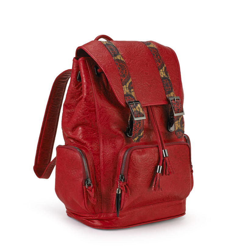 Rebirth Red embossed backpack 2