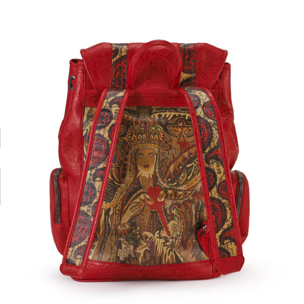 Rebirth red embossed backpack 3