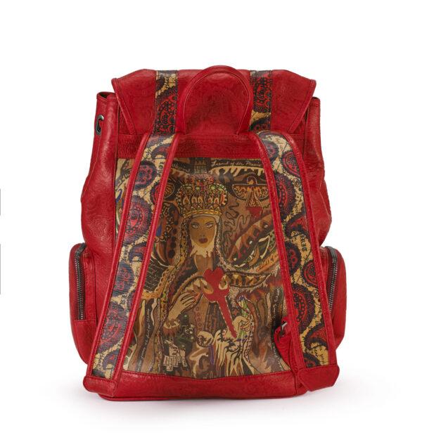 Rebirth red embossed backpack 3