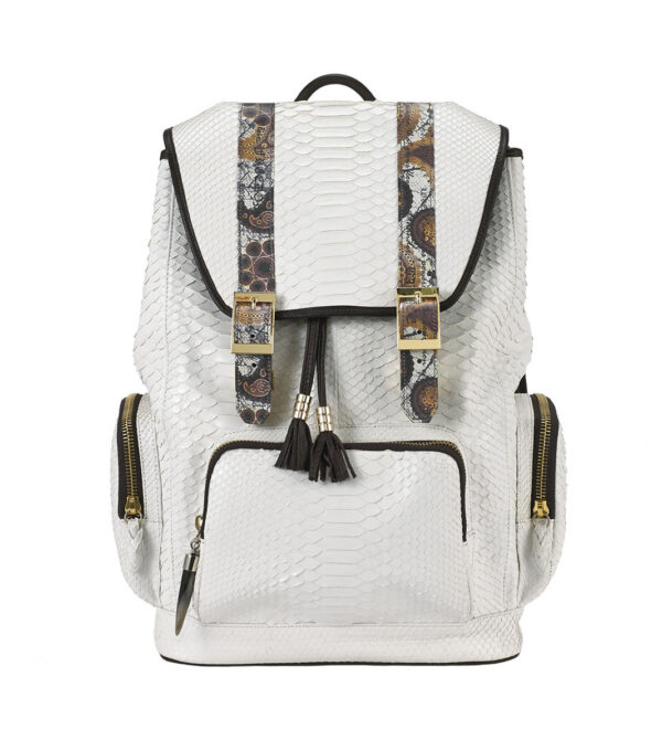 BACKPACK fingerprint-white-python
