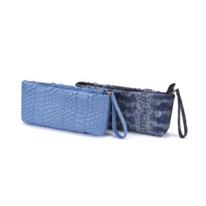 Mini Clutch Blue Python