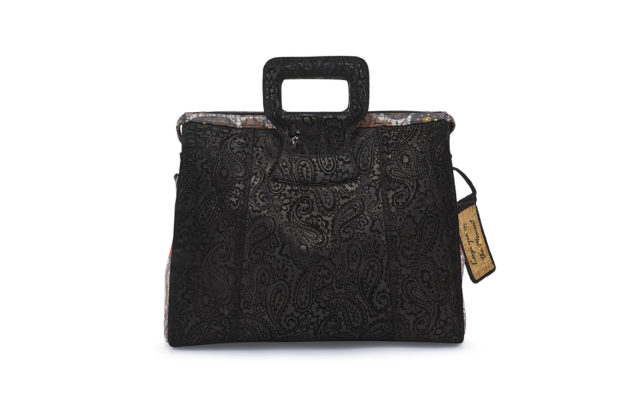 15 INCH HANDBAG DUFFEL BLK EMBOSSED REBIRTH NEW1