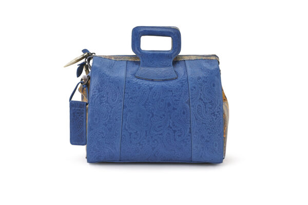 15 INCH HANDBAG DUFFEL BLUE EMBOSSED MIRACLES 1