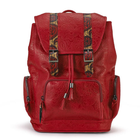 Rebirth Red Embossed Leather