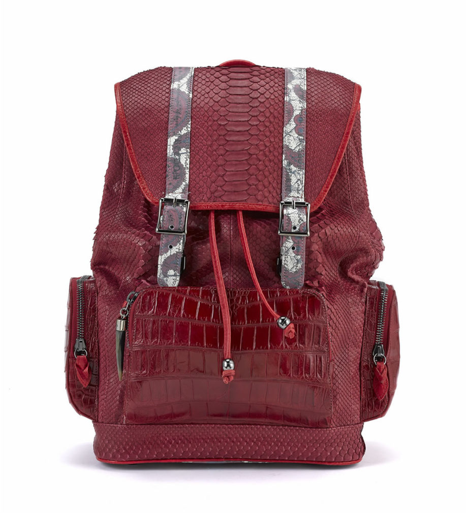 Serenity Red Python with Croco Pockets