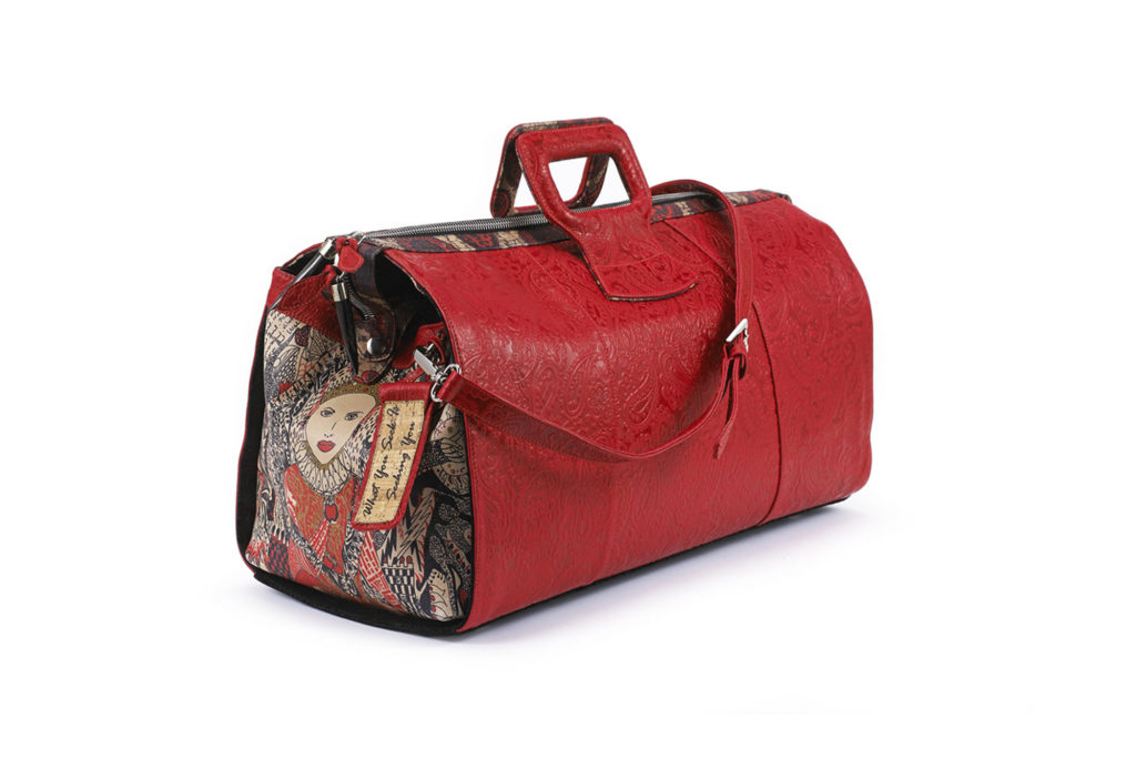 LADY B EMBOSSED DUFFEL