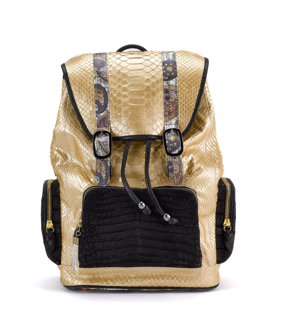 Fingerprint of the Soul Gold Python with Croco Pockets