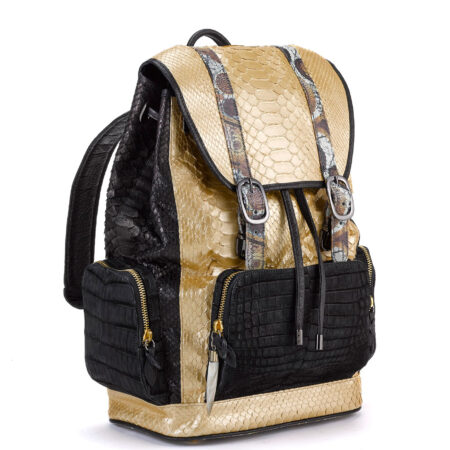 Fingerprint of the Soul Gold Python with Black Croco Pockets