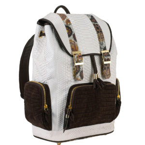 Fingerprint of the Soul White Python with Croco Pockets