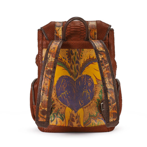 Love & Hope Cognac Python Backpack