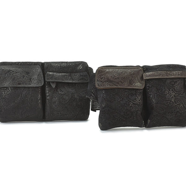 HIP BAGS BLK AND BLK BROWN