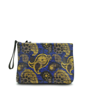 Blue Gold Paisley