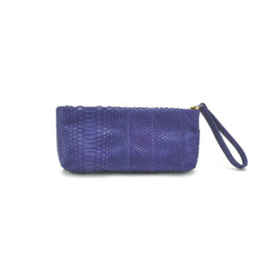 Mini Python Clutch Purple Paisley